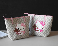 fancy shopping bag PU kitty cat handbags for children single-shoulder pu bag fashion long strap messenger bag