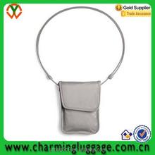 cute fashion mobile neck hanging bag/cell phone bag fancy passport holder