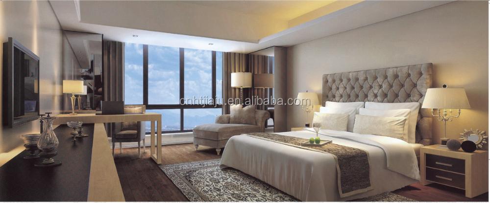 customized latest 5 star hotel bedroom furniture modern