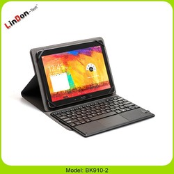 Folio PU leather tablet pc case with wireless keyboard, tablet pc case with wireless keyboard