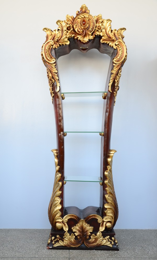 Luxe Art Gesneden woonkamer meubels type Wijn vitrinekast met Glas ...