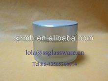50ml de vidrio esmerilado cosméticos frasco con tapa de aluminio