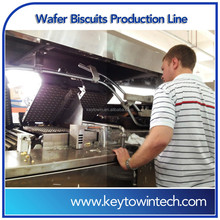 Fully automatic wafer biscuits production line