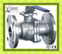 2PC ANSI Flanged Ball valve with high Mounting Pad
