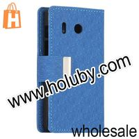 Mysterious Maze Cloth Texture Wallet Stand Magnetic Flip Leather Case for Huawei Ascend Y320 with Card Slots