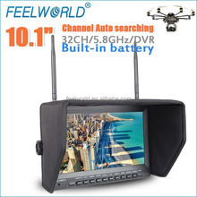 "FEELWORLD 10.1"" Slim Design durable 5.8ghz 32-ch fpv monitor FPV Camera Quadcopter for quadcopter toy"