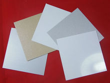 Sublimation blanks aluminum sheets 0.7mm gold/silver/white sublimation metal sheets