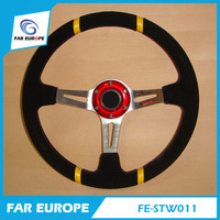 Racing 350MM Leather Material Modified Steering Wheel