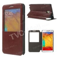 For Samsung Galaxy Note 3 N9005 Window View Leather Stand Case w/ Card Slot