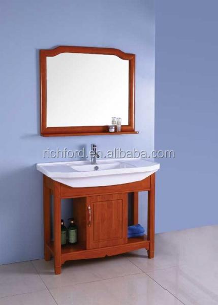2015 popular solid wood bathroom cabinet bathroom