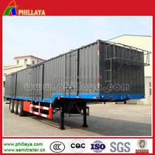 2015 China 3 axles box semi trailer for sale / box truck semitrailer
