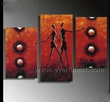 Wall art nude body canvas painting for home decor