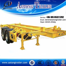 china low price 2 axle 40ft container shipping skeleton semi trailer with 12 twist lock