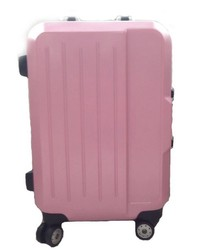 Cute Pink Girls ABS Spinner Luggage with Metal Frame