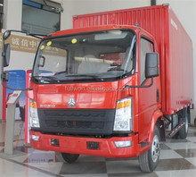 China howo 4X2 2 ton mini / small delivery van prices low