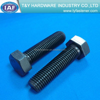 hex cap screw ISO8676 class4.8/8.8/10.9 full thread zinc plated