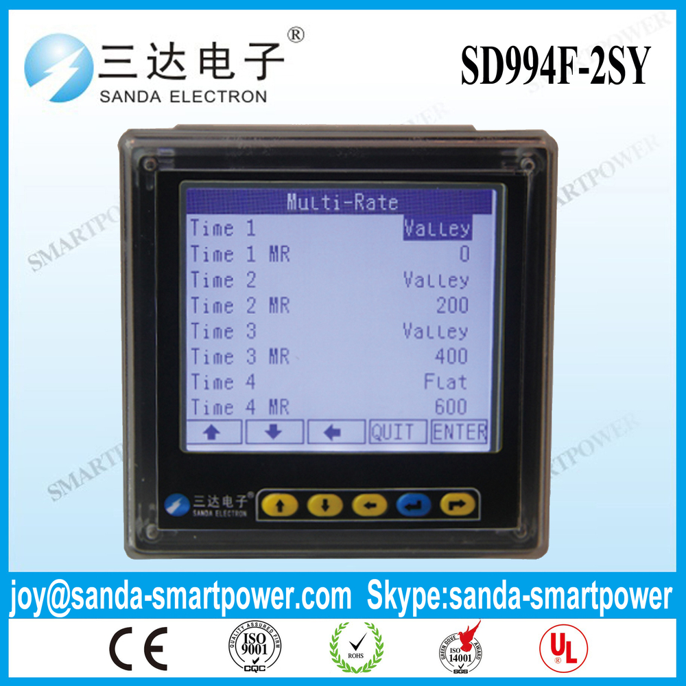 Matching 1000 5a Ct Single Phase Digital Ammeter 1000a Buy Voltmeter Wiring Diagram Sd994f 2sy Multi Rate Meter