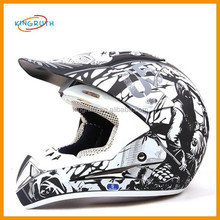 High quality black and white vintage motorcycle helmets