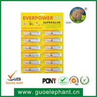 170 Super Strong Liquid Glue 12pcs 3g Aluminum Tube Instant Dry Cyanoacrylate