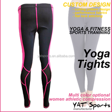 Custom nylon spandex dry fit colored leggings for athletic compression womens yoga tights