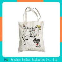 Custom printied cotton shopping bag canvas tote bag