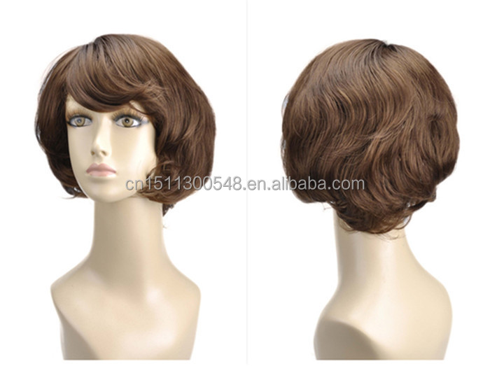 Synthetic Fiber Short Style Wigs Hair For Women Thin Skin