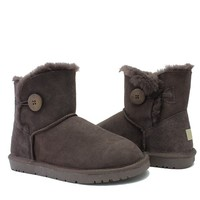 2015 3352 wholesale Doubleface sheepskin short button ankel boots