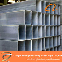 Hot Dipped Galvanized Square Steel Pipe A53 - A369 For Structure Fabrication , 6x6 - 800x800mm