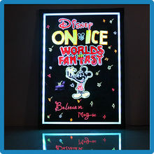 Prevent scratching acrylic panel fashion led writing board restaurants menu board