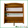 Bamboo wall mounted storage organizer for household