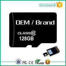 Taiwan full capacity memory card for micro 128gb sd card with free logo