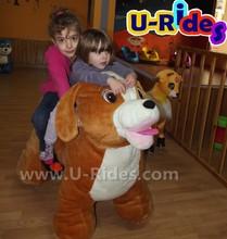 Brown Dog Animal Kiddie Ride for kids