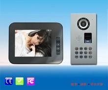"""waterproof 8 """" video door phone with fingerprint/code unlocking"""