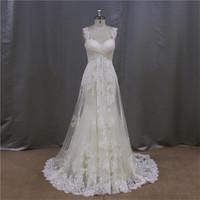 in dubai fish style a-line long train wedding dress