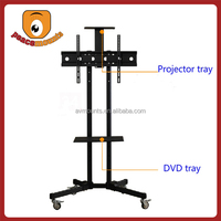 """For TVs up to 32""""-70"""" screen movable and free standing flat screen iron tv stand"""