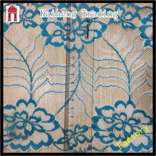 2014 hot sell Alibaba China suppier factory blue flower Nylon Spandex ribbon flower trimming Lace for girls' costume accessories