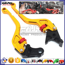 BJ-LS-010 CNC Aluminum Short Motocross Adjustable Clutch Levers Motorcycle Brake Lever for Yamaha MT-07/FZ-7 2014-2015