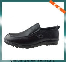 black casual shoes with CE standard for office working