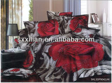 rose 3D wedding bedding set/comforter set/bedsheet/bed linen