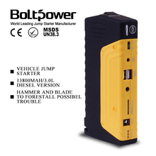 Mini 13800mah Jump Starter, Flashlight and Emergency Power Pack Car Battery Charge with Optional Inverter for Flat Tyre