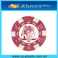 custom printing logo clay poker chips