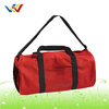 Red Travel Bag With Shoulder Strap For Lady
