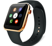 Heart rate Sport watch A9 sync calling,pedometer,UV Multi-language for ios/android phone waterproof gold watches cover silicone