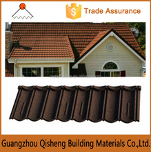 Easy installation stone coated roofing/Stone coated metal roofing sheet/Scientific installation sand coated roof tile