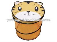 cartoon cat animal folding and fabric collapsible large canvas storage bins with lid