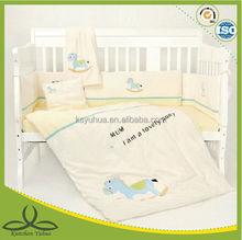 Embroidery baby bedding set crib sheet