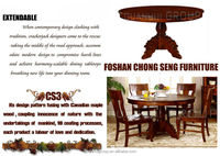 Popular Best Selling New dining room furniture all wood dining table