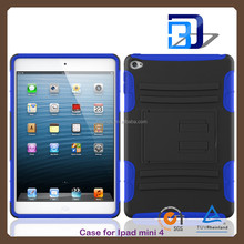 New Arrival Popular 2 in 1 Shockproof hybrid armor case For iPad mini 4 tablet case lowest price