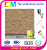 exterior wall paint texture stone coating-waterborne spray natural stone effect finish coating