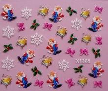 Varios diseños de uñas decoración del árbol de navidad diseño de uñas de arte